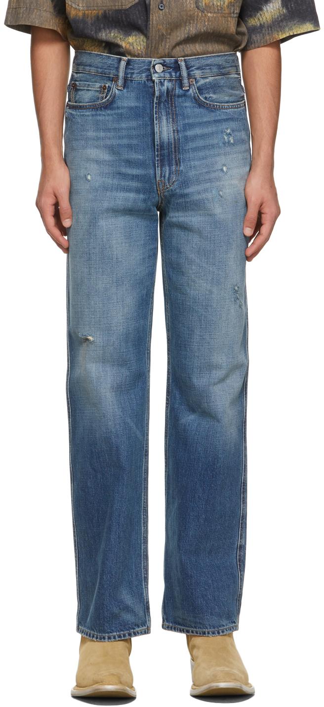Acne Studios Blue Slim Fit Jeans 211129M186129