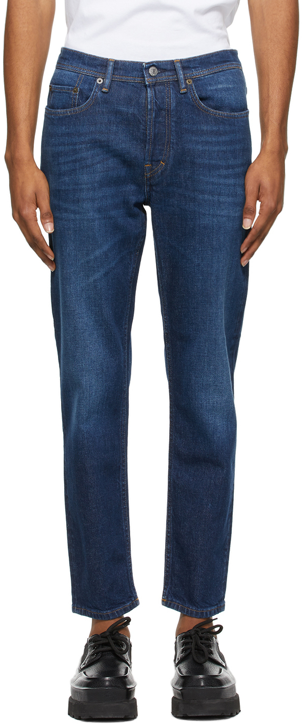 Acne Studios Blue Slim Tapered Jeans 211129M186130