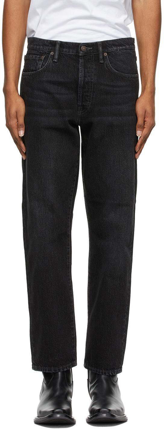 Acne Studios Black Slim Tapered Jeans 211129M186131