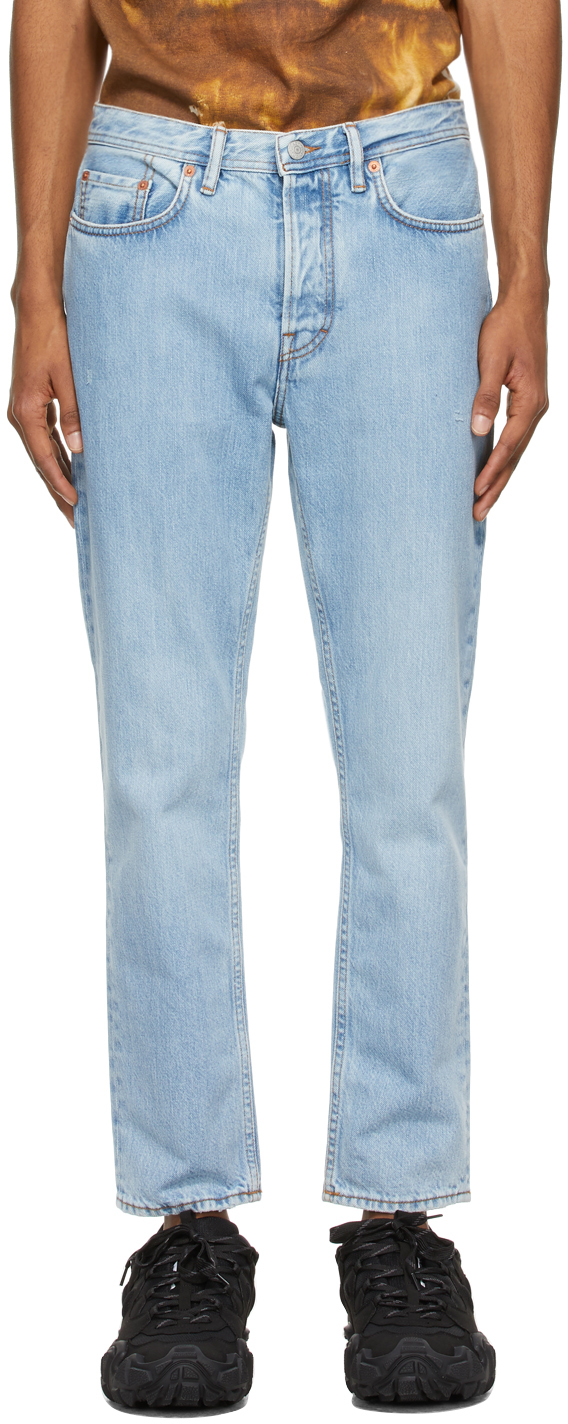 Acne Studios Blue Slim Tapered Jeans 211129M186133