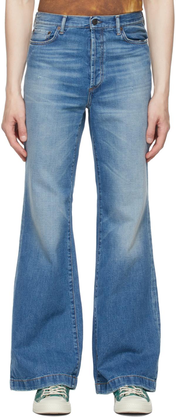 Acne Studios Blue Bootcut Jeans 211129M186142