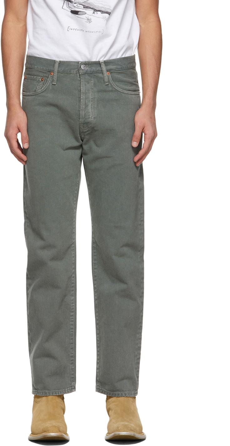 Acne Studios Green Classic Fit Jeans 211129M186147