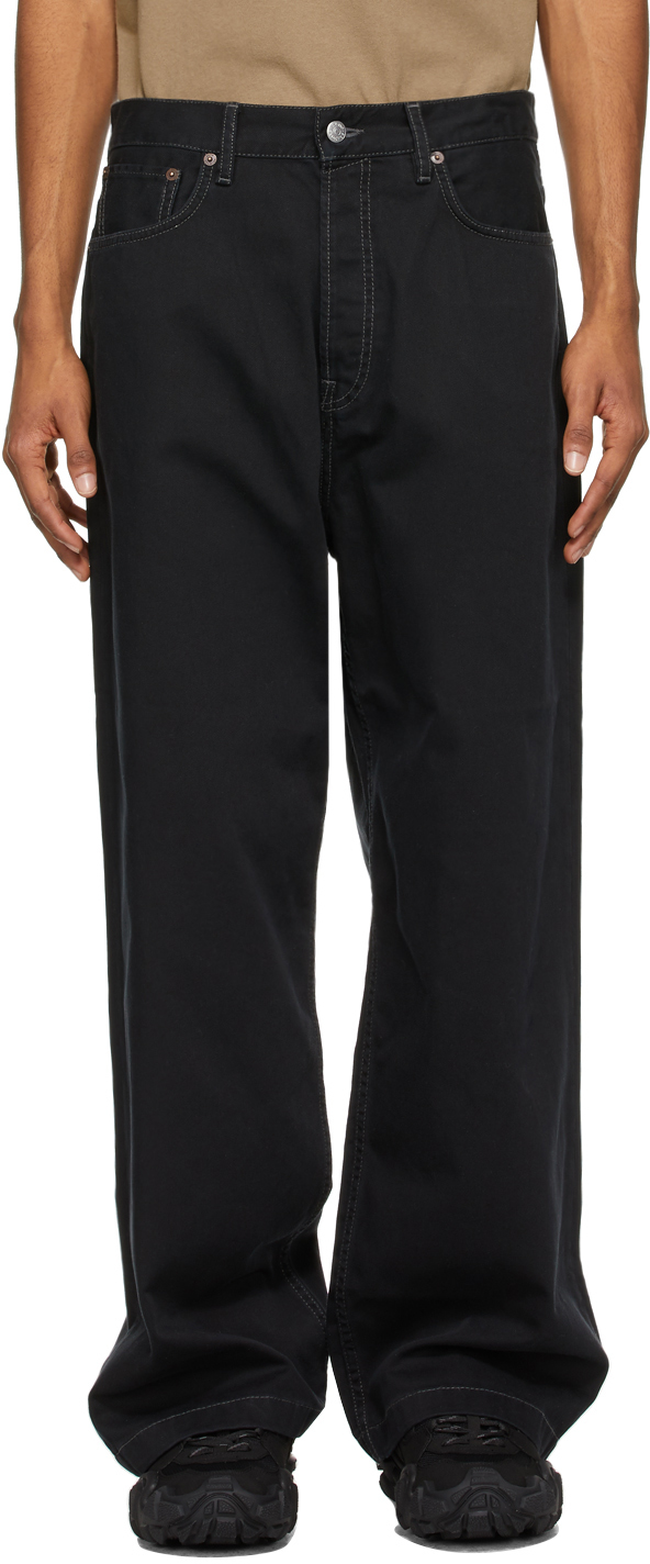 Acne Studios Black Loose Fit Jeans 211129M186149