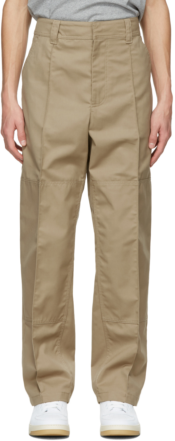 Acne Studios Beige Twill Workwear Trousers 211129M191061