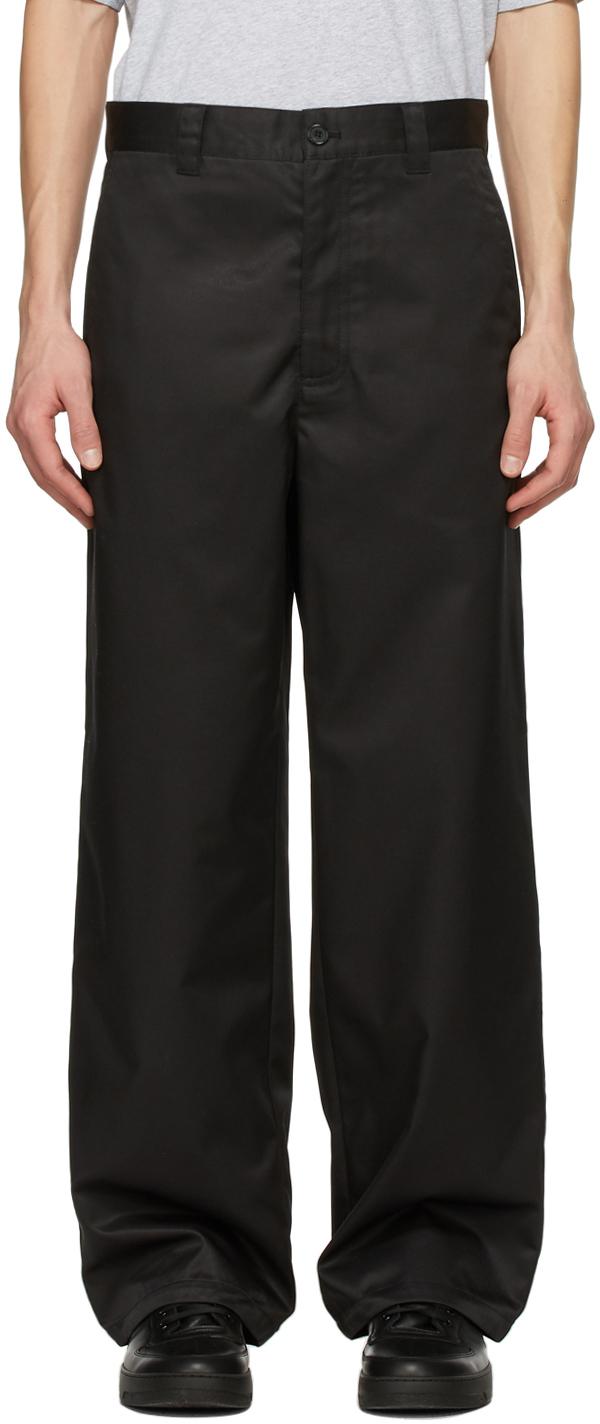 Acne Studios Black Workwear Trousers 211129M191063