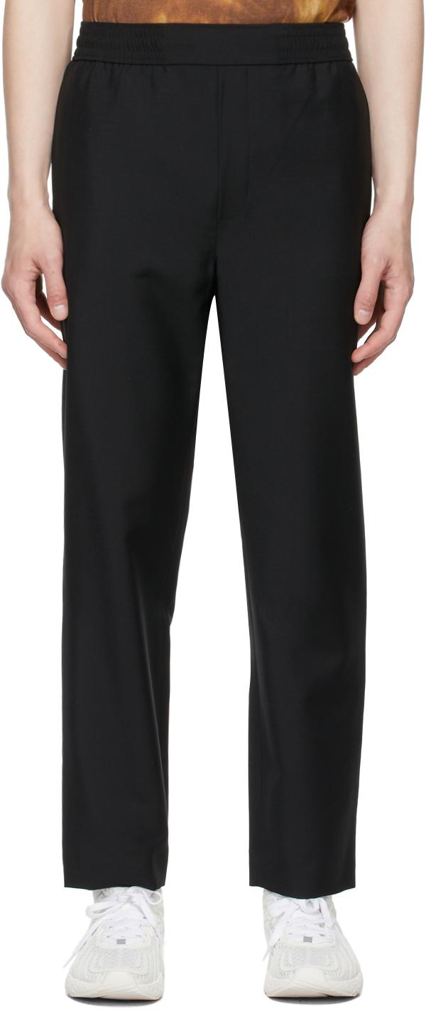 Acne Studios Black Mohair Casual Trousers 211129M191068