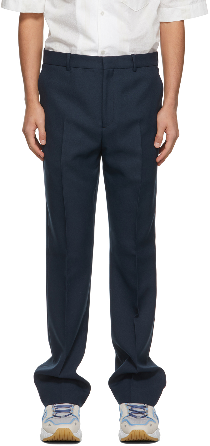 Acne Studios Blue Tailored Trousers 211129M191070