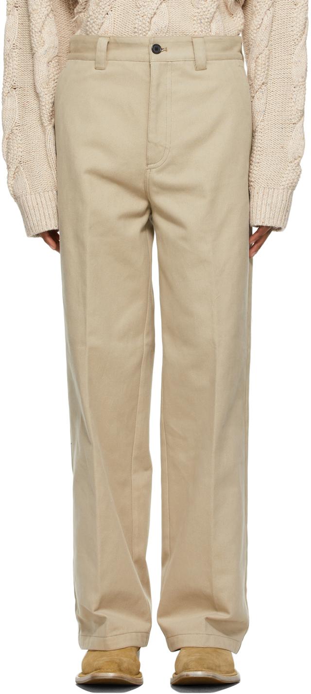 Acne Studios Beige Workwear Trousers 211129M191073