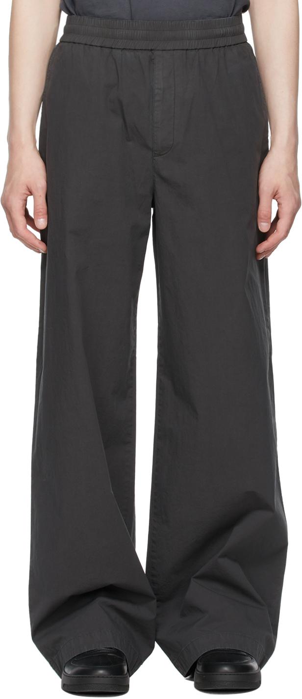 Acne Studios Grey Fluid Trousers 211129M191076
