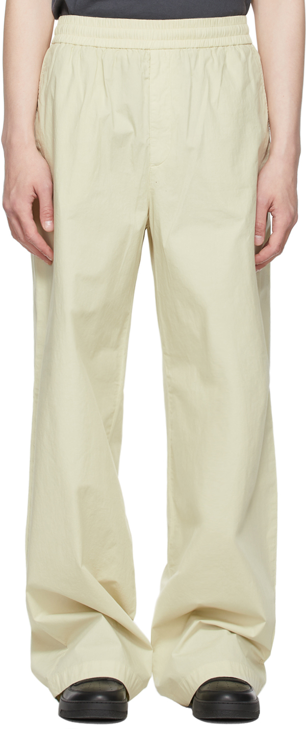 Acne Studios Green Fluid Trousers 211129M191077
