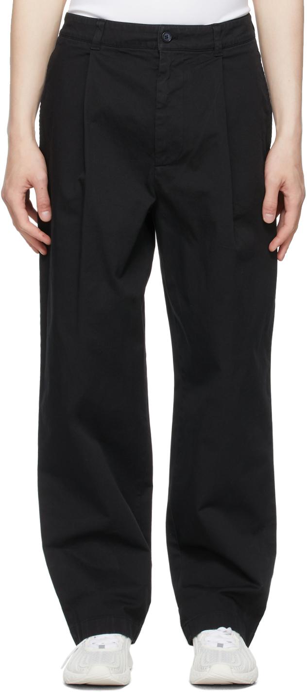 Acne Studios Black Wide Leg Trousers 211129M191078