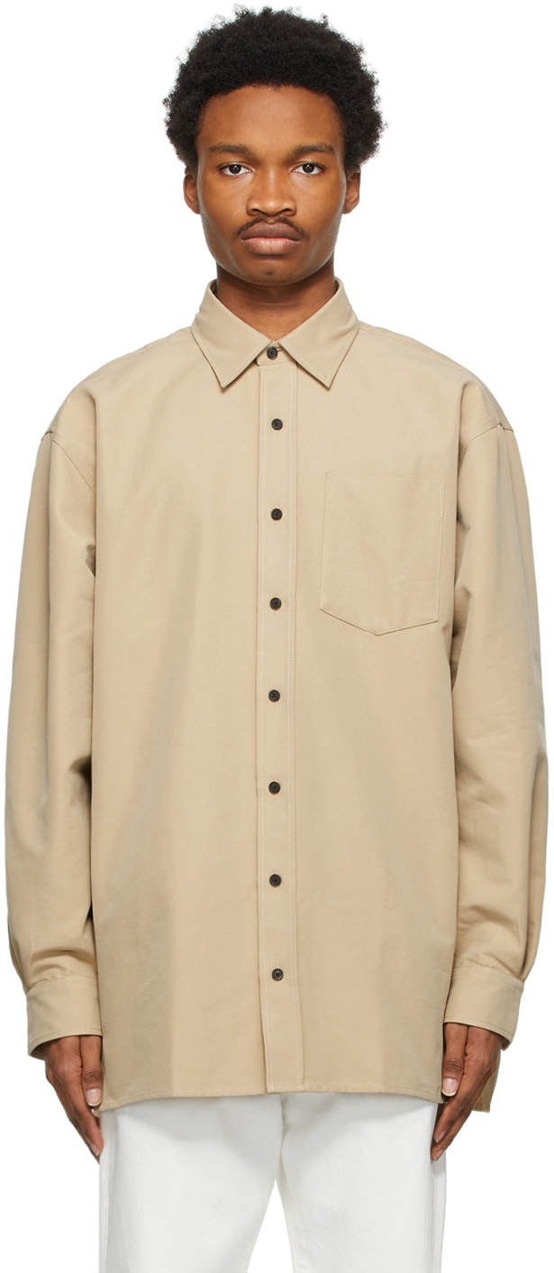 Acne Studios Beige Oversized Shirt 211129M192087