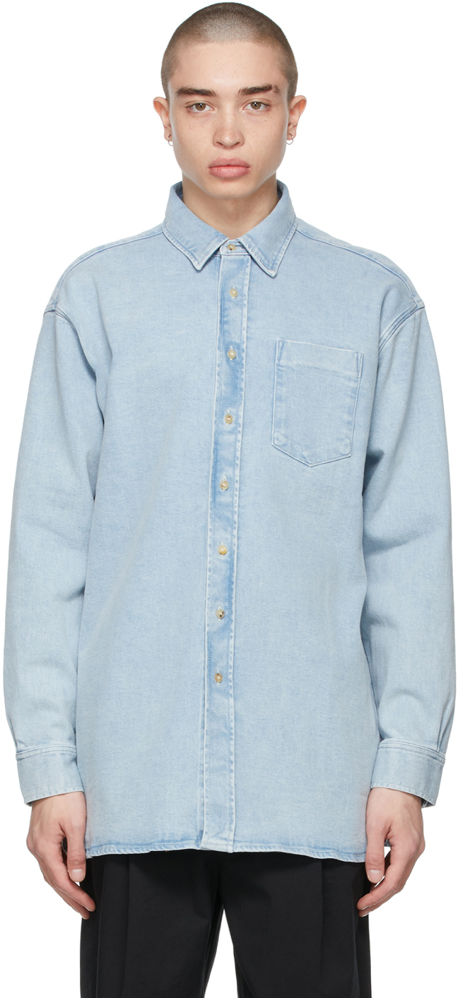Acne Studios Blue Denim Oversized Shirt 211129M192091