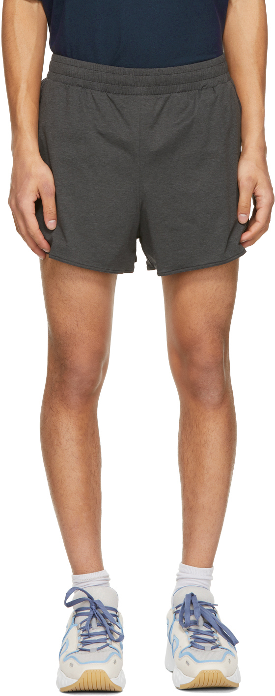 Acne Studios Black Jersey Running Shorts 211129M193049