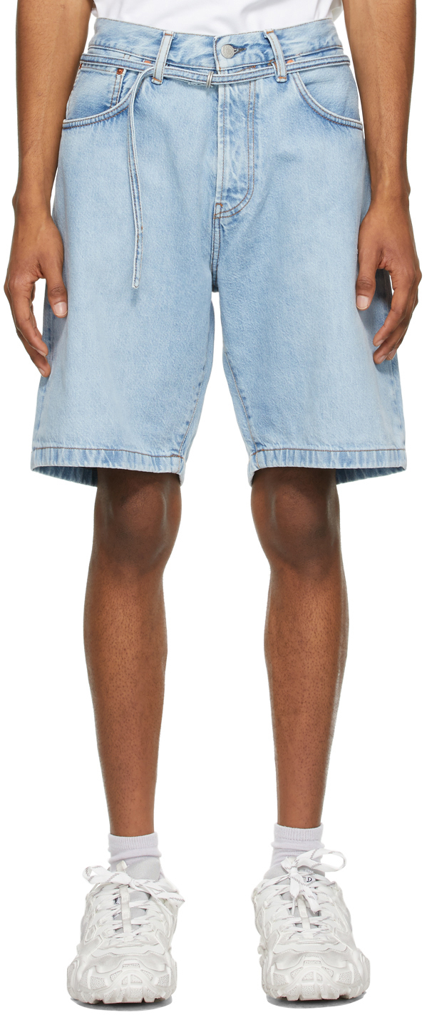 Acne Studios Blue Denim Shorts 211129M193053