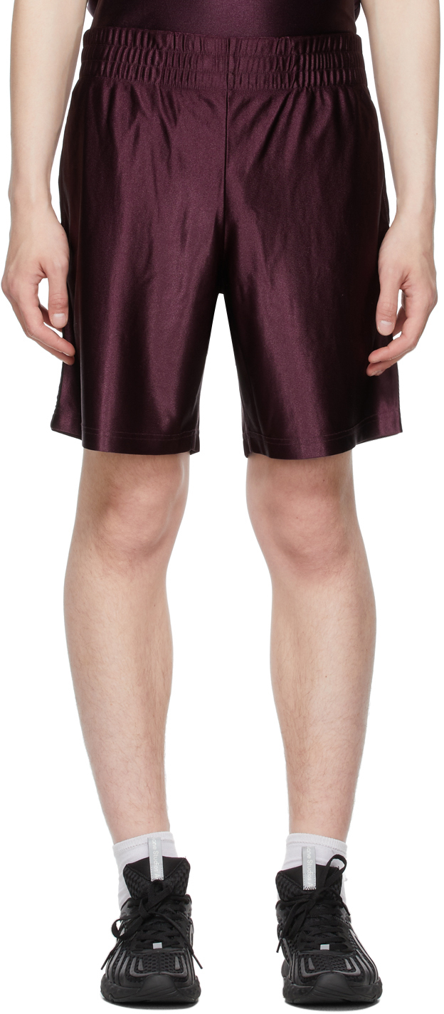 Acne Studios Burgundy Piping Shorts 211129M193063