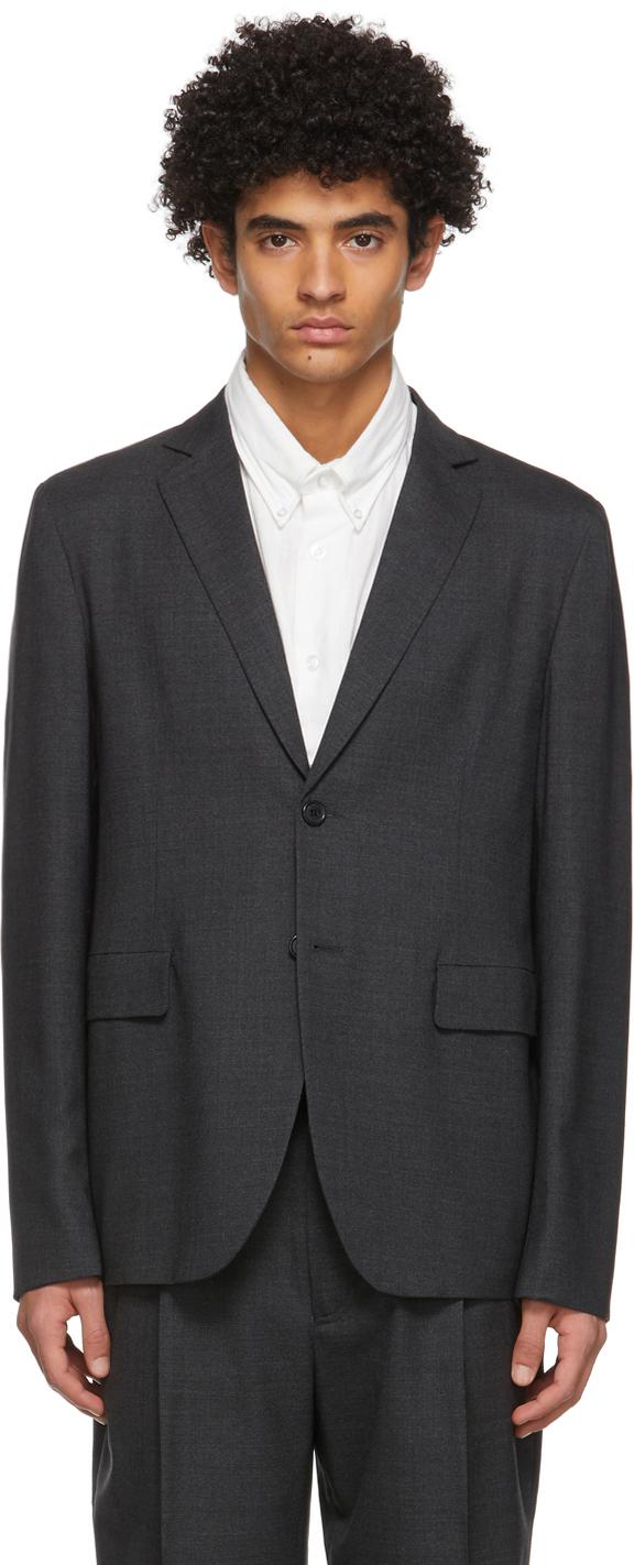 Acne Studios Grey Wool Single Breasted Blazer 211129M195166