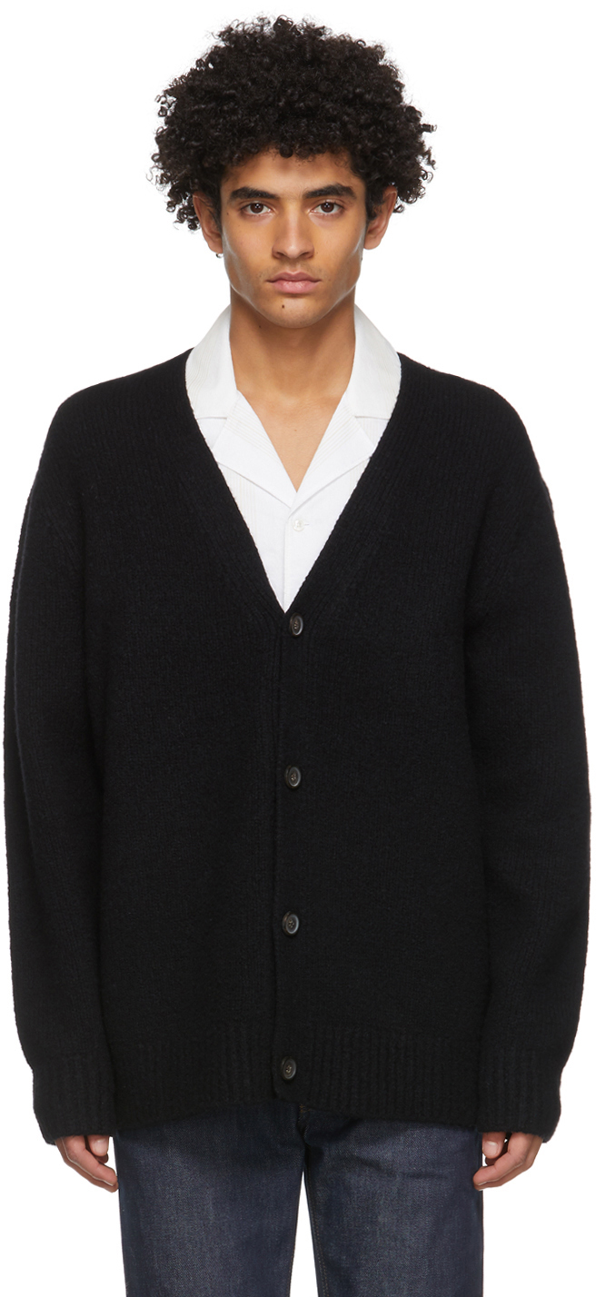 Acne Studios Black Wool Cashmere Cardigan 211129M200043
