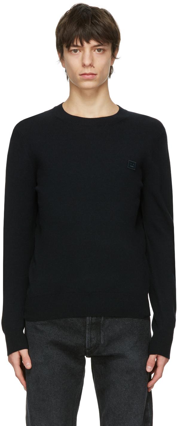 Acne Studios Black Wool Crewneck Sweater 211129M201041