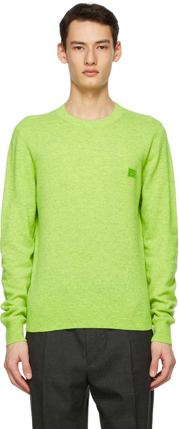 Acne Studios Green Wool Patch Sweater 211129M201045