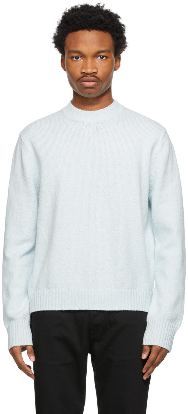 Acne Studios Blue Cotton Sweater 211129M201047