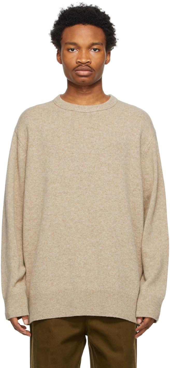 Acne Studios Beige Crew Neck Sweater 211129M201060