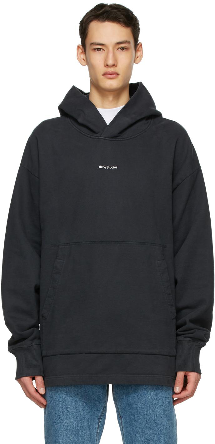Acne Studios Black Logo Hoodie 211129M202059