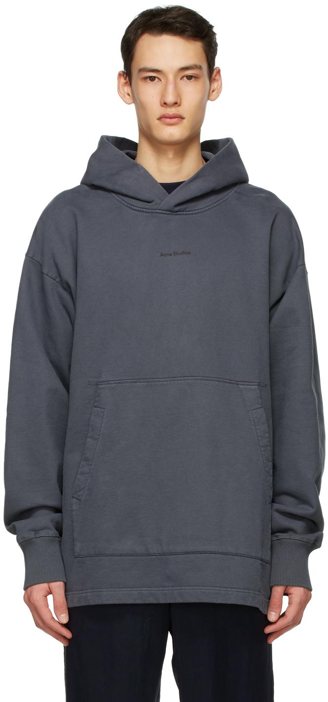 Acne Studios Grey Logo Hoodie 211129M202062