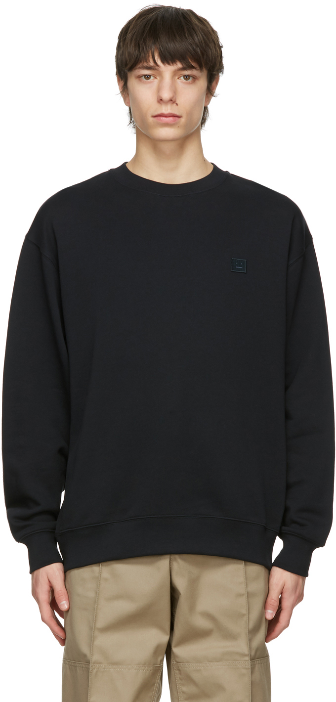 Acne Studios Black Oversized Sweatshirt 211129M204056