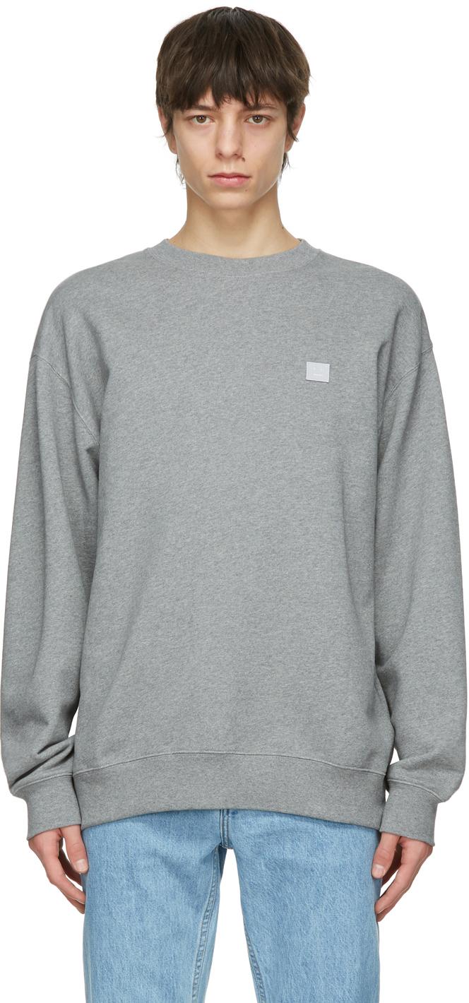 Acne Studios Grey Oversized Sweatshirt 211129M204057