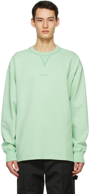 Acne Studios Green Logo Sweatshirt 211129M204068