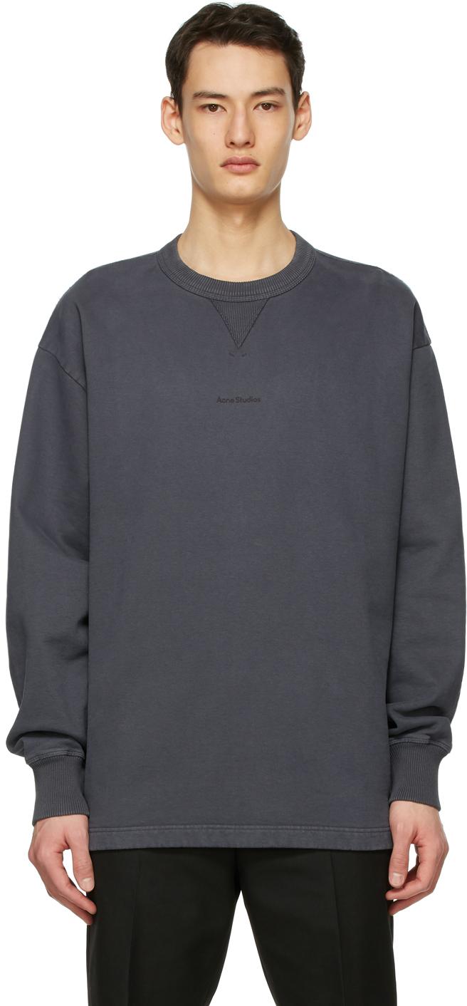 Acne Studios Grey Logo Sweatshirt 211129M204069