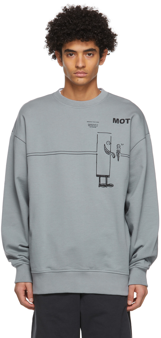 Acne Studios Grey Beni Bischof Edition MOTF Sweatshirt 211129M204070