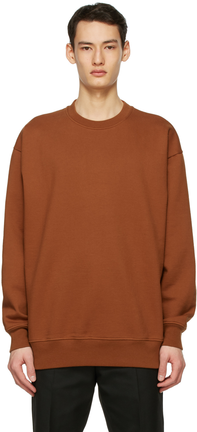 Acne Studios Brown Pink Label Sweatshirt 211129M204073