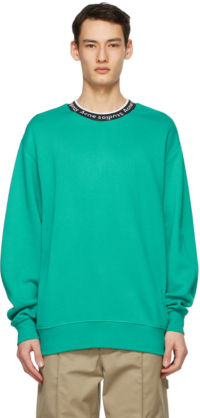 Acne Studios Blue Jacquard Logo Sweatshirt 211129M204075