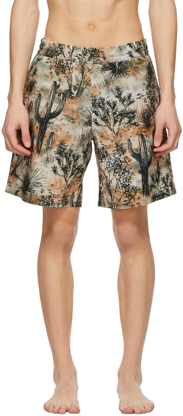 Acne Studios Beige Desert Swim Shorts 211129M208305