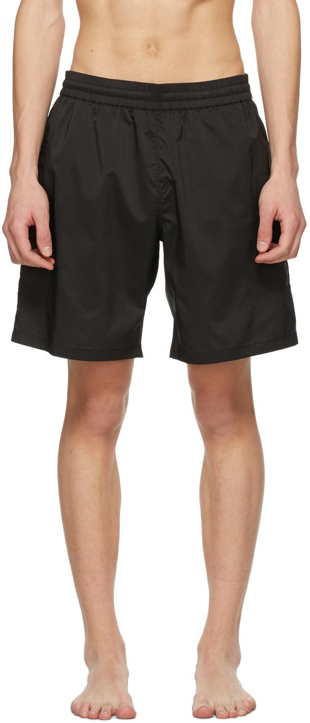 Acne Studios Black Ripstop Swim Shorts 211129M208306