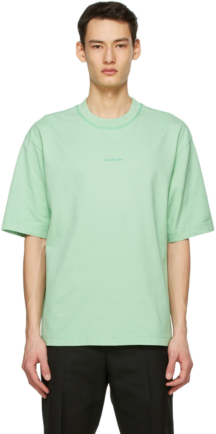 Acne Studios Green Printed T Shirt 211129M213077