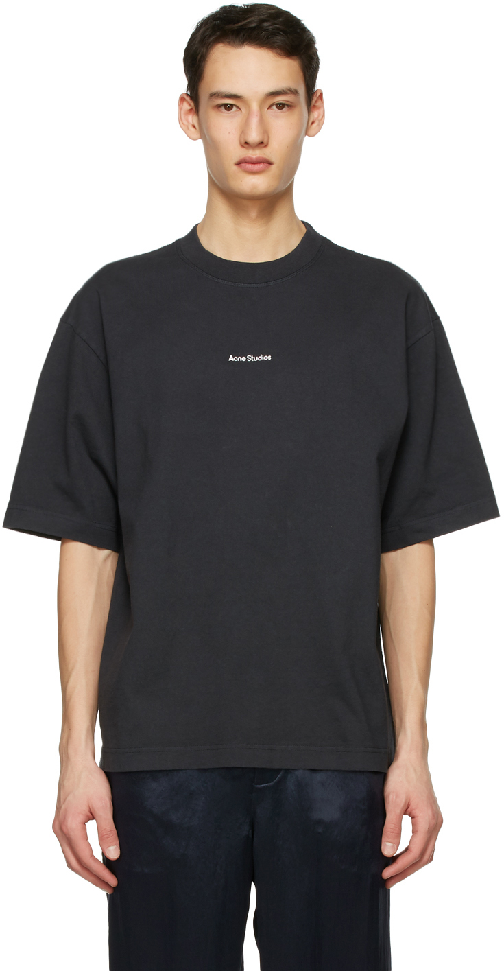 Acne Studios Black Printed T Shirt 211129M213080