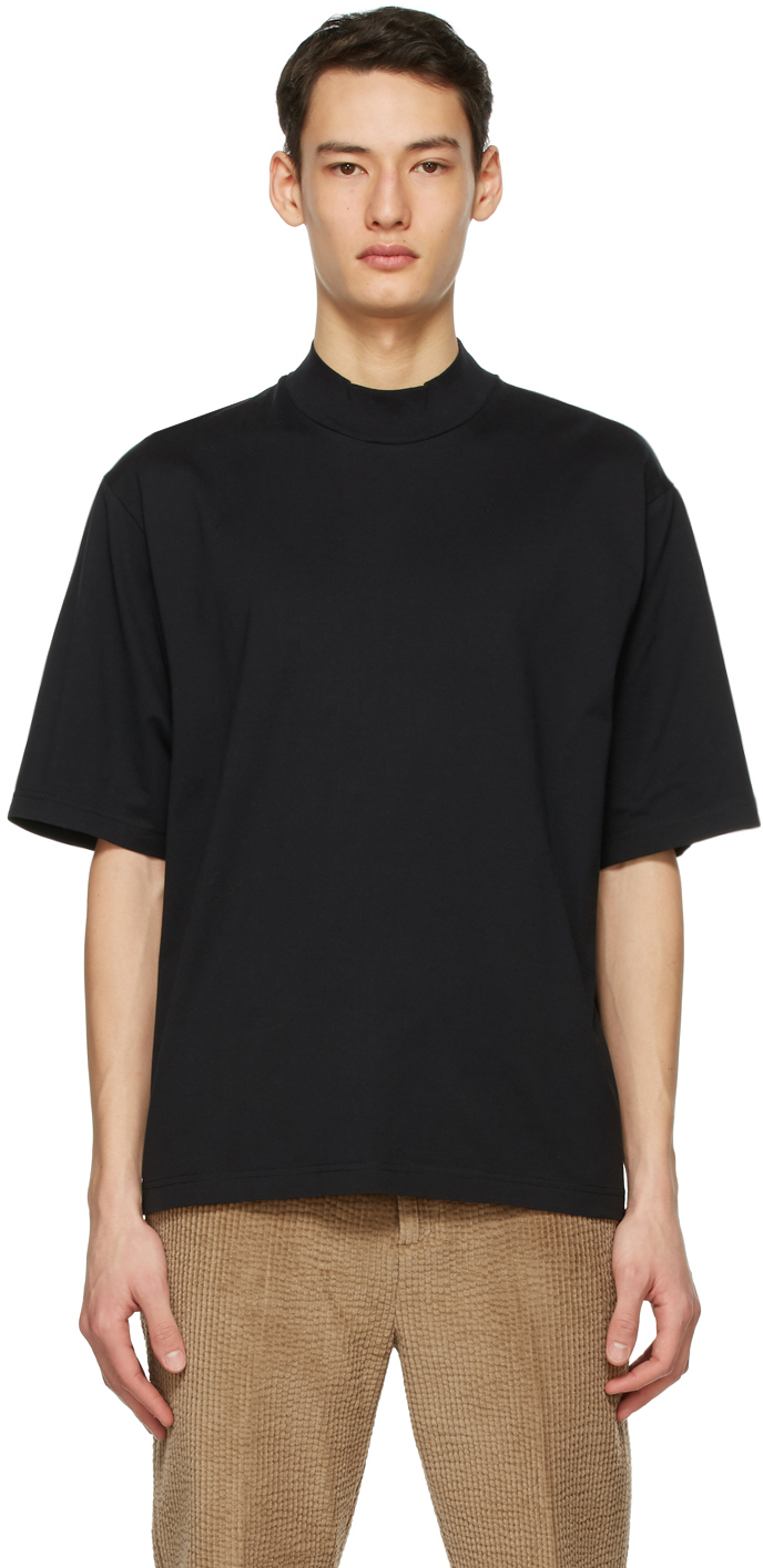Acne Studios Black Mock Neck T Shirt 211129M213089