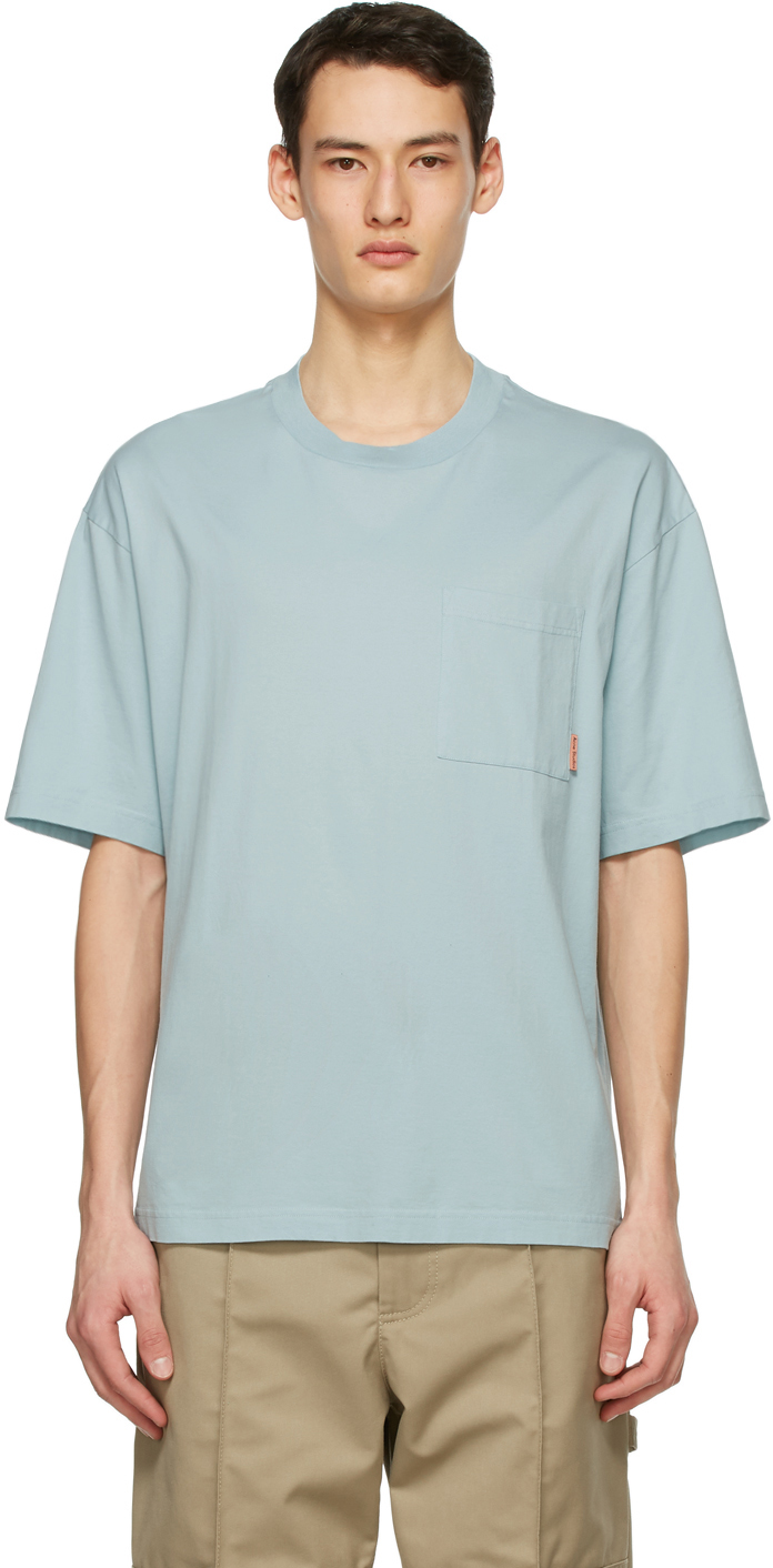 Acne Studios Blue Pocket T Shirt 211129M213092