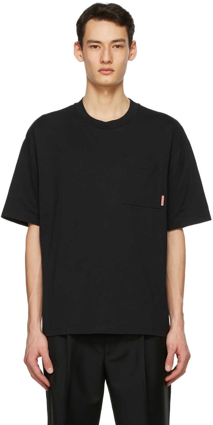 Acne Studios Black Pocket T Shirt 211129M213093