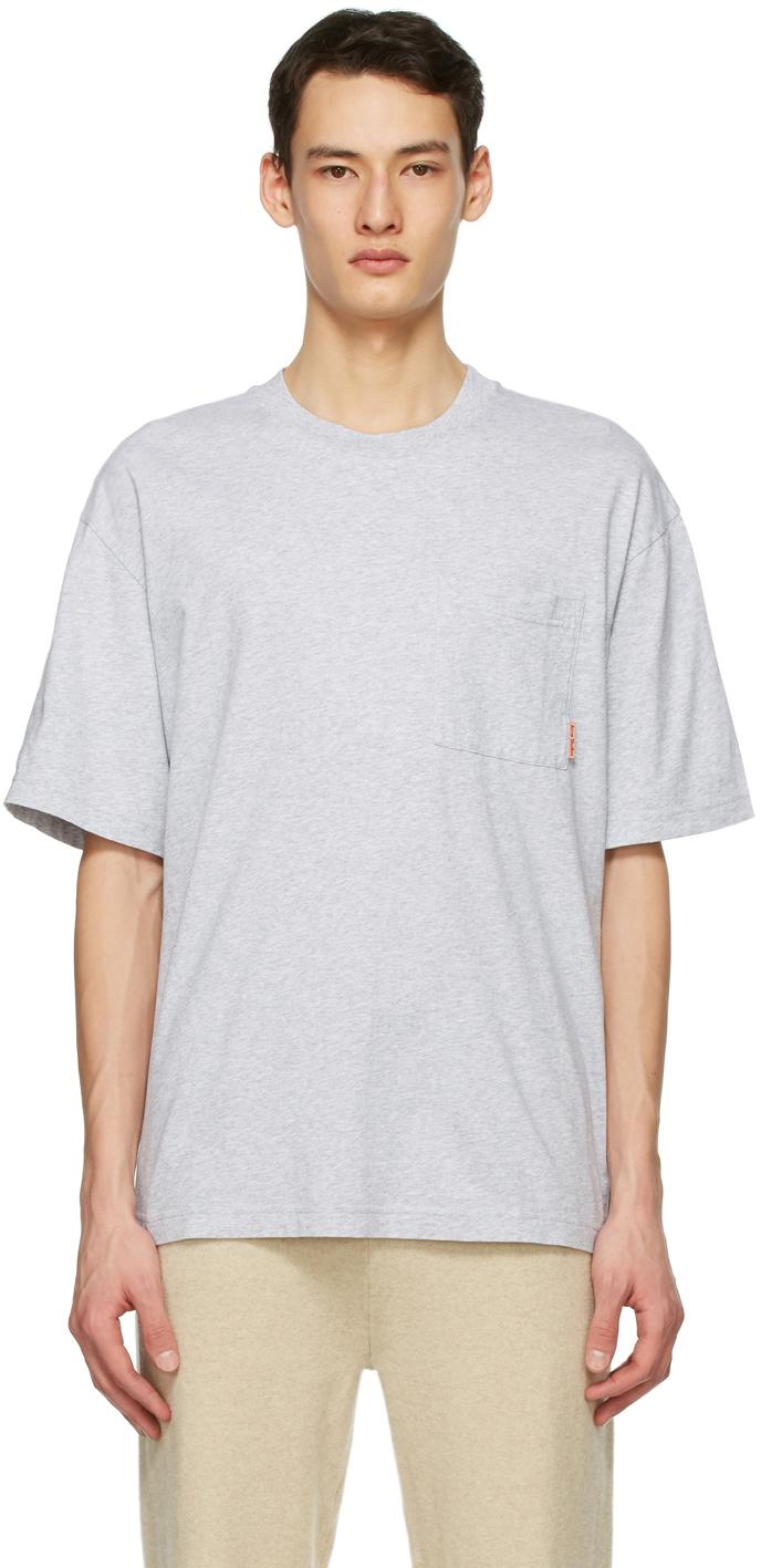 Acne Studios Grey Pocket T Shirt 211129M213095