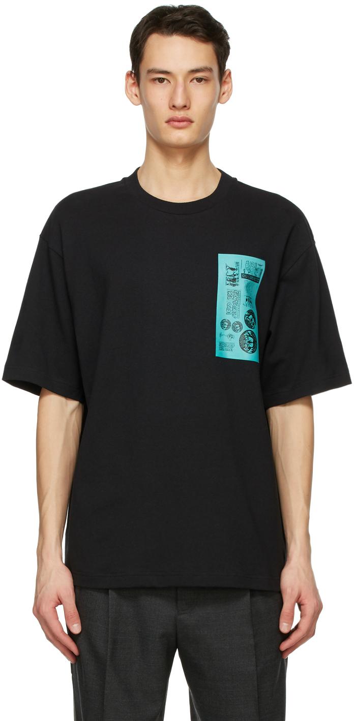 Acne Studios Black Dizonord Edition Printed T Shirt 211129M213104