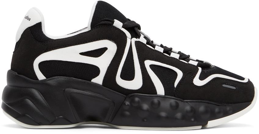 Acne Studios Black White Rockaway Sneakers 211129M237065