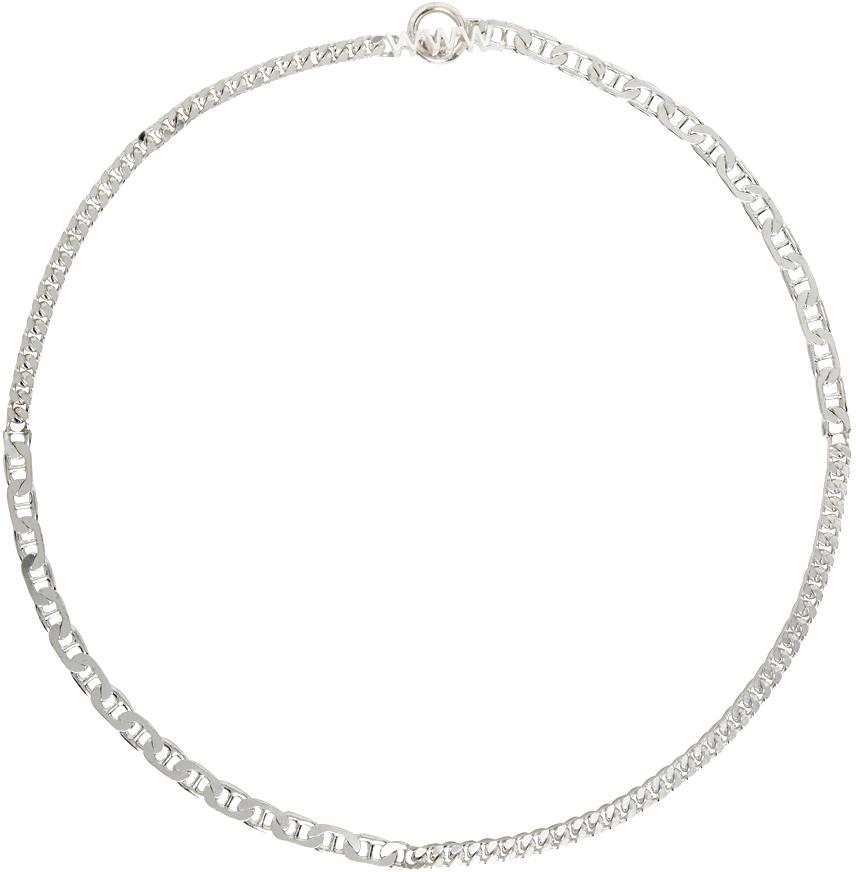 WWW. WILLSHOTT 银色 Split Chain 项链