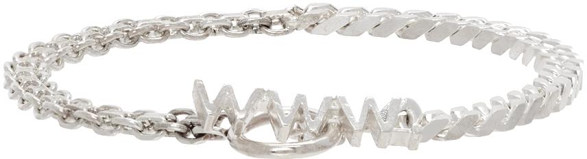 WWW. WILLSHOTT 银色 Split Chain 手链
