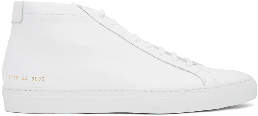 White Original Achilles Mid Sneakers