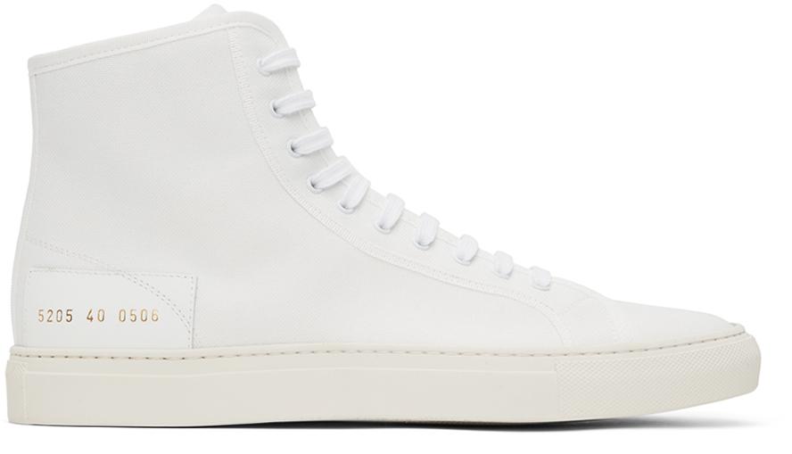 White Tournament High Sneakers