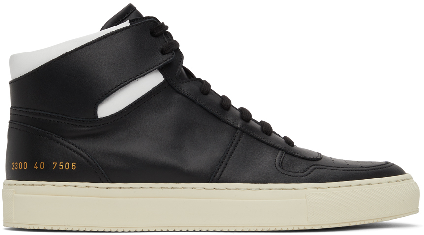 Black & White BBall High Sneakers